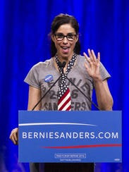 Comedienne and actress Sarah Silverman speaks at a