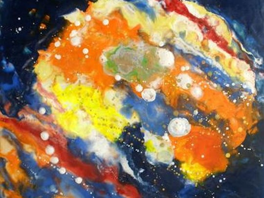 """Galaxy,"" encaustic by Ben Avant."