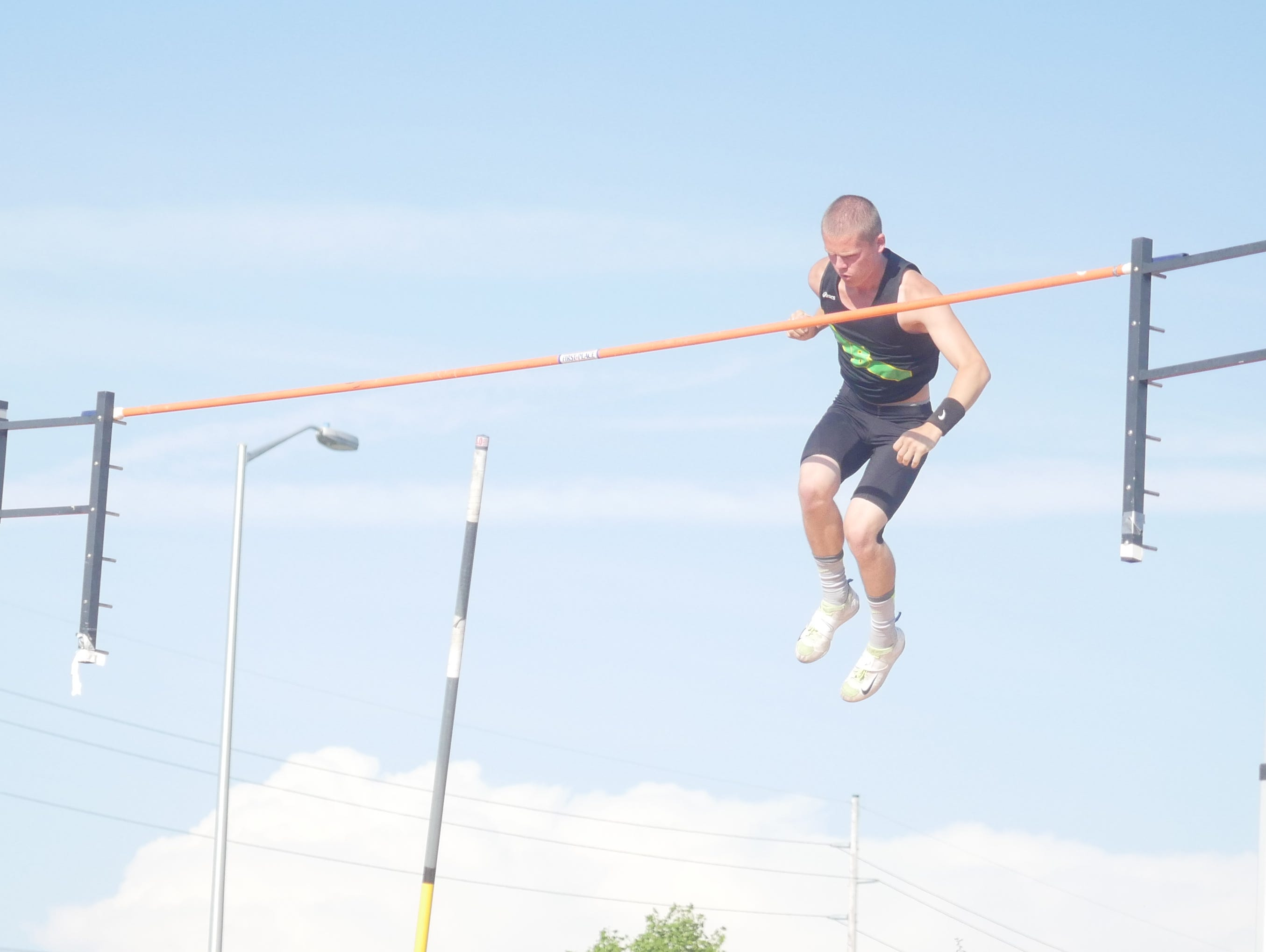 Bishop Blanchet's Zach Shugart won the 3A Boys Pole Vault with 15-09 after placing second last year.