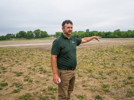 A nerw 30-acres farm inFishers, Indiana, will be the largest urban farm in the United States. Run by Brandywine Creek Farms' Jonathan Lawler.