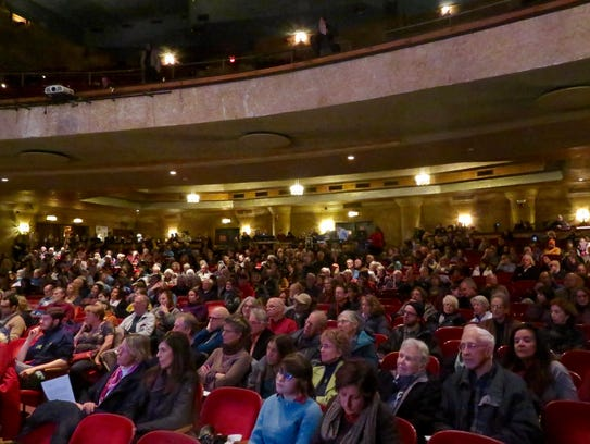 Ithaca's State Theatre was packed with hundreds of