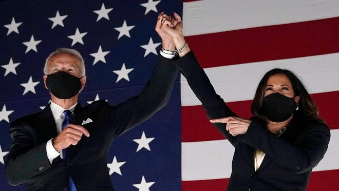Joe Biden, pictured with running mate Kamala Harris, has defeated President Donald Trump.  USA TODAY