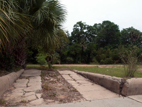 This cleared lot at 218 N. DeVilliers on Wednesday,