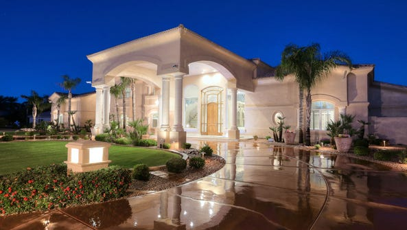 The grand entryway of Rod and Christine Sartor's Glendale