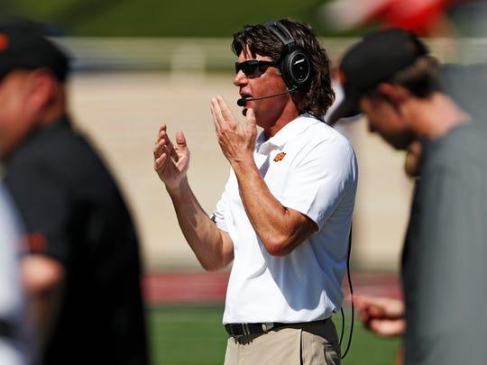 Oklahoma State coach Mike Gundy