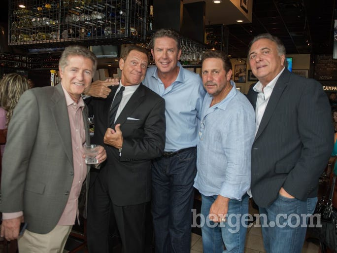 Nick Castaldo (Equity Partner/ Senior V.P. Chief Marketing Officer at Anthony's Coal Fired Pizza), Joe Piscopo (Actor/Comedian), Dan Marino (NFL Hall of Famer and Anthony's Coal Fired Pizza Partner), Anthony Bruno (Founder and CEO of Anthony's Coal Fired Pizza) and Pat Marzano (Chief Financial Officer at Anthony's Coal Fired Pizza)
