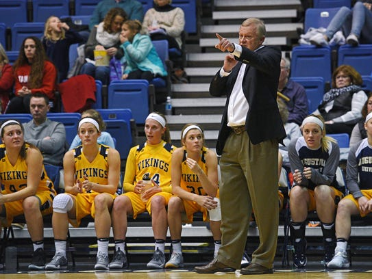 Augustana head women's basketball coach Dave Krauth