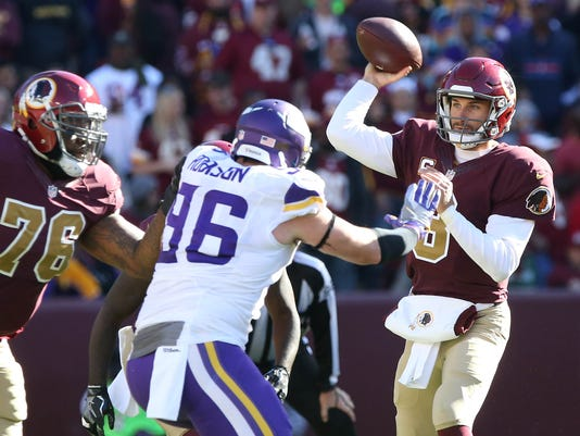 USP NFL: MINNESOTA VIKINGS AT WASHINGTON REDSKINS S FBN USA MD