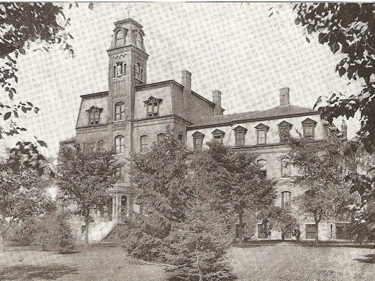 A photo from 1890 shows Mount St. Mary Academy on Mansfield Avenue in Burlington.