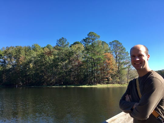 The highlight of Jimmie Davis State Park for Eric Guidry was the fishing pier on Caney Lake.