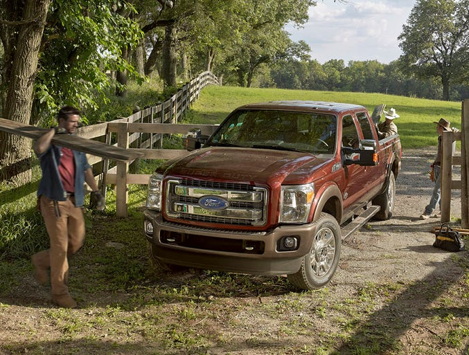 Ford's refreshed F-Series Super Duty King Ranch edition.