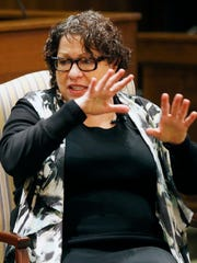 Supreme Court Justice Sonia Sotomayor speaks during