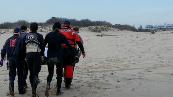 The Coast Guard rescued a man who was injured in a