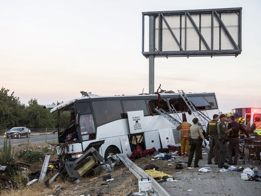 AP CALIFORNIA BUS CRASH A USA CA