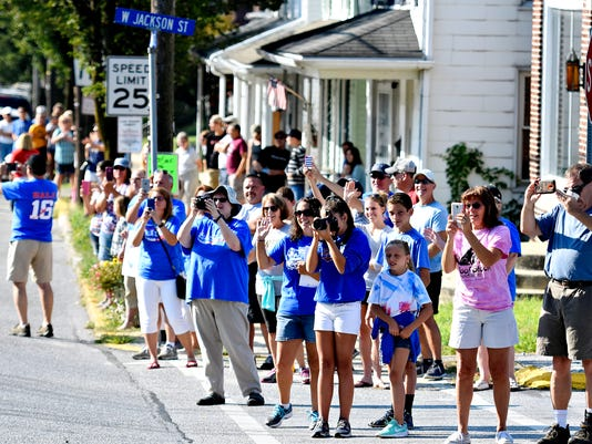 Parade for Olympian Hali Flickinger