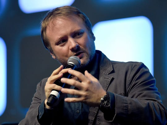 Director Rian Johnson, seen at last year's Star Wars
