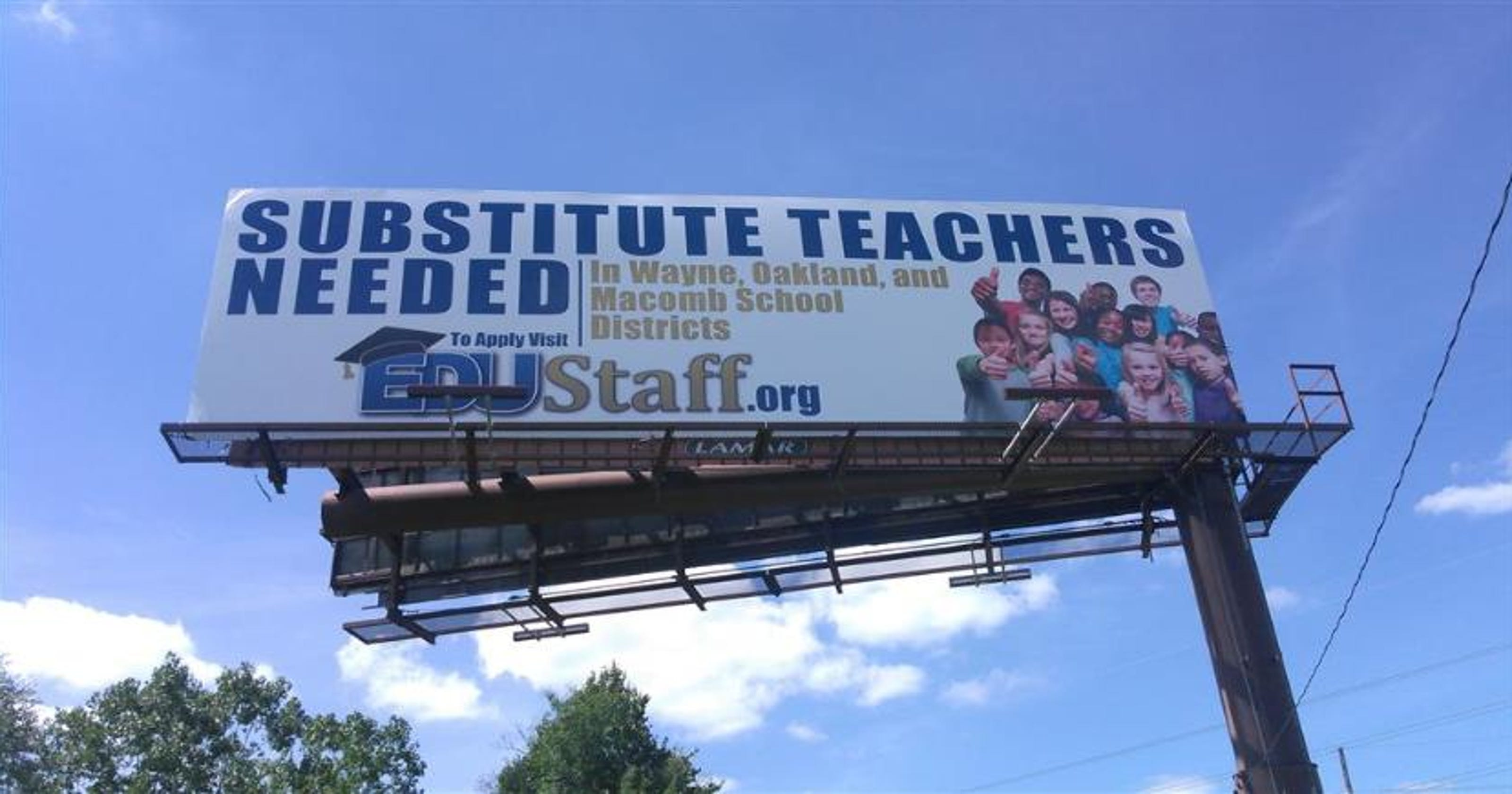 Wanted Substitute Teachers For Michigan Classrooms