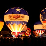 Scenes from the US Bank Derby Festival Great Balloon Glow.