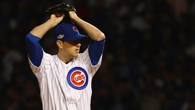 Starting pitcher Kyle Hendricks led the Chicago Cubs to a victory over the Los Angeles Dodgers in Game 6 of the NLCS on Saturday night.