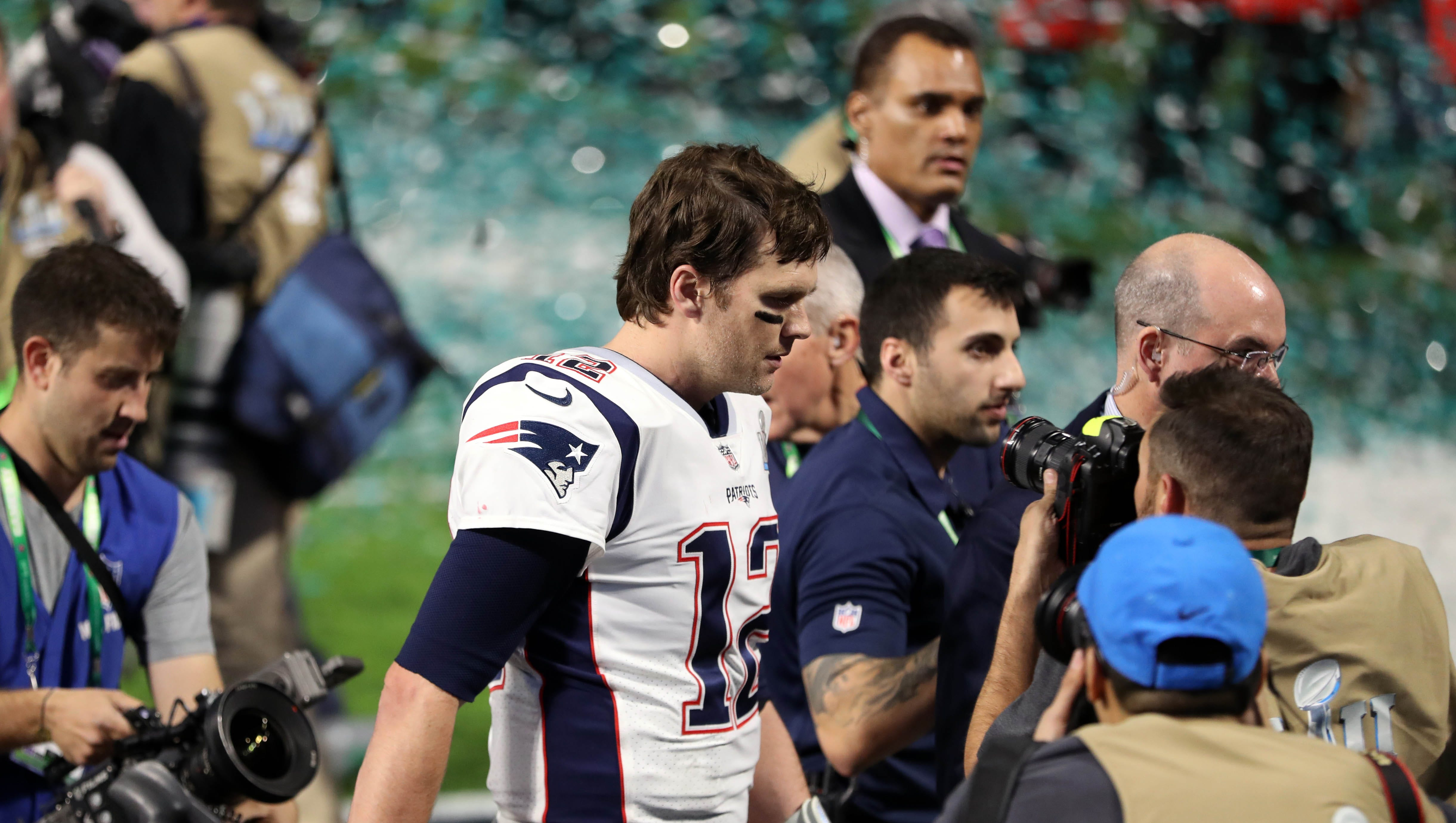 Super Bowl 2018: No jersey drama, just disappointment for Tom Brady