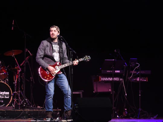 Contestant Eric Van Houten of Buffalo performs during the Northeast Regional Semifinals of the Country Showdown at the Mid-Hudson Civic Center.