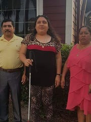 Lazaro Tapia and Gloria  Aguirre, and their daughter