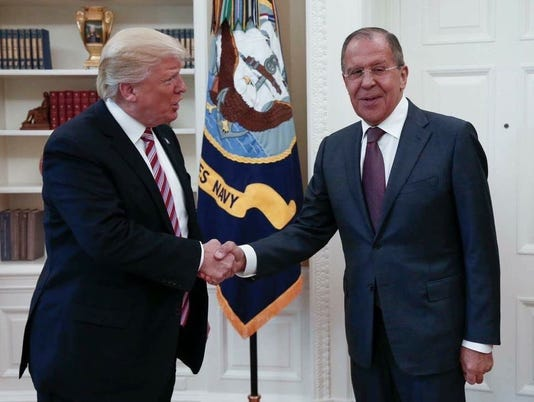 Donald Trump and Sergey Lavrov