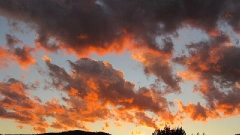 Ruidoso shows its true colors at sunset.