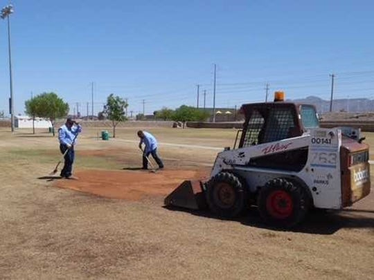 Crews are working to improve conditions at the Westside Sports Complex after a leaky irrigation system led to poor conditions.