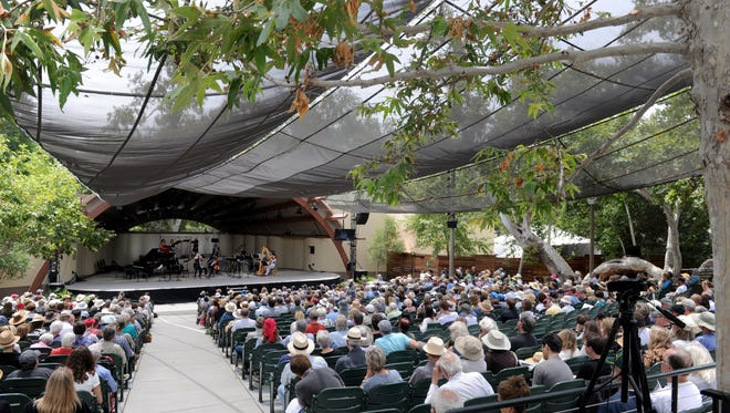The Libbey Bowl, shown here during an Ojai Music Festival, will be the site of a free Sunday concert by the Ojai Pops Orchestra.