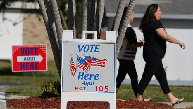 Voters head to the polls at precinct 105 in Cape Coral