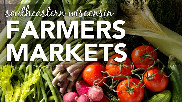 Our map of farmers markets in Southeastern Wisconsin will help you find farm fresh produce near you.
