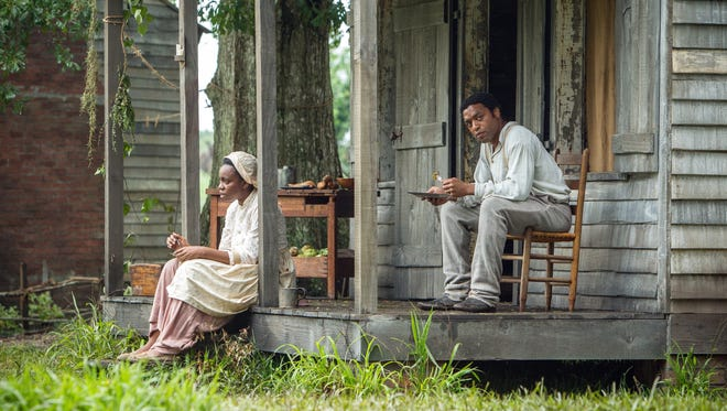 Adepero Oduye, left, as Eliza and Chiwetel Ejiofor as Solomon Northup in a scene from '12 Years a Slave,' which has garnered multiple Oscar nominations.