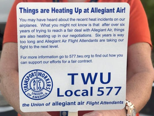 Allegiant Air Flight Attendants In Punta Gorda Highlight Union Fight
