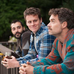 "Frankie J. Alvarez, left, Jonathan Groff and Murray Bartlett live and love in San Francisco in HBO's series ""Looking."""