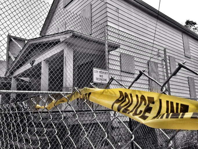 Today marks the first anniversary of the rescue of kidnapping victims Michelle Knight, Amanda Berry and Gina DeJesus from their captor, Ariel Castro. Your Take contributor Jeffrey Goodman explored the area surrounding Castro's Cleveland home on Aug. 6, 2013, the day before it was demolished. The result was a series of haunting photos.<br />