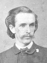 John H. Surratt, Jr. in 1868. Photographed by Matthew Brady of Brady & Co., Washington, D.C. This is an albumen on a carte de visite mount.