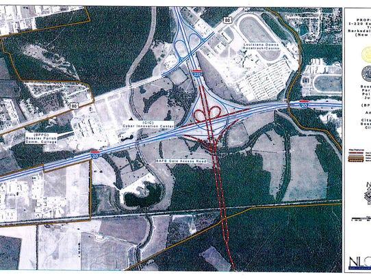 Original plan for expansion of the interchange at I-20