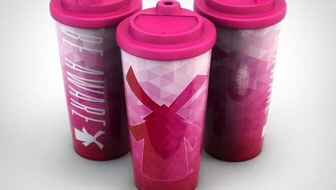 Sales of 'Be Aware' mugs will help benefit breast cancer research at OHSU Knight Cancer Institute.