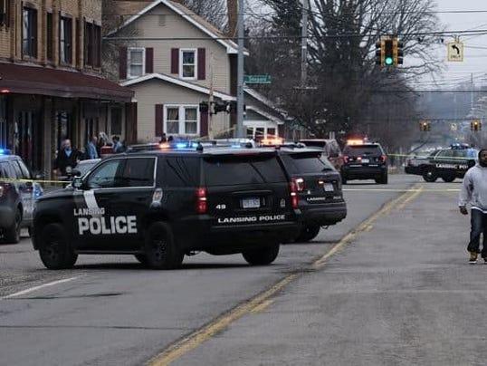 Lansing police had the 1600 block of East Kalamazoo Street blocked ...