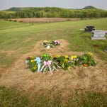 May 4, 2016: Kenneth Rhoden, the last of the eight Pike County murder victims, is laid to rest Wednesday at Mound Cemetery in Piketon.
