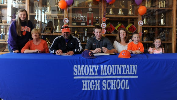 Smoky Mountain senior Cal Raleigh has signed to play college baseball for Clemson.