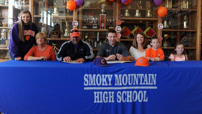 Smoky Mountain senior Cal Raleigh has signed to play college baseball for Clemson.
