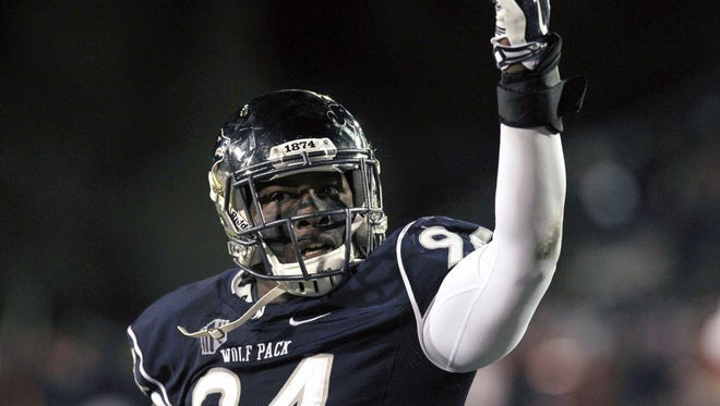 Wolf Pack defensive end Lenny Jones overcame a troubled youth to become a college success.