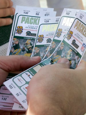 Tickets sold outside Lambeau Field were among those purchased with stolen credit card information.
