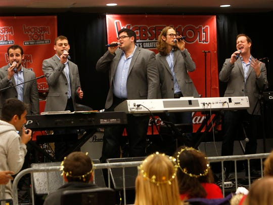 "Six13 performs at the WCBS-FM live holiday broadcast and concert at Blythedale Children's Hospital Dec. 19, 2014 in Valhalla. The broadcast of the ""Scott Shannon in the Morning"" show was a fundraiser for the hospital, featuring celebrity auction items for listeners to bid on."