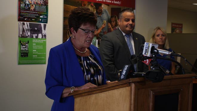 Broome County Executive Debbie Preston announces details for this weekend's Chris Thater Memorial races.