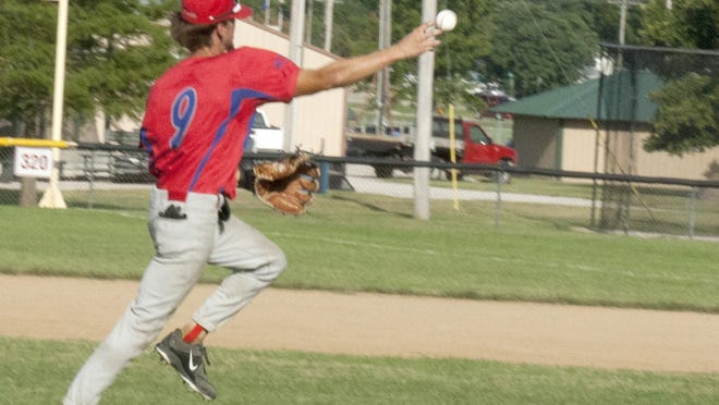 Ottawa Arrows shortstop Brady Beets has given the defense a calm presence in the middle infield this season. Ottawa closes the season this weekend in a tournament in Buhler. [PHOTO BY GREG MAST/THE OTTAWA HERALD].