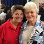 Sister Lynne Lieux, left, with Sister Philomene Tiernan, who died on the Malaysian airliner.