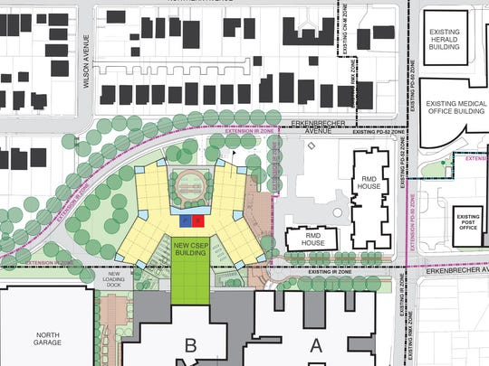 Plan of Children's Hospital proposed expansion shows